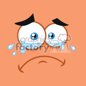 10858 Royalty Free RF Clipart Crying Cartoon Funny Face With Tears And Expression Vector With Orange Background clipart. Royalty-free image # 403694