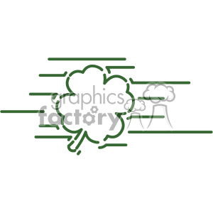 shamrock clover St Patricks Day flat vector design GF