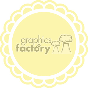 yellow circle with scalloped edge clipart. Royalty-free image # 403782