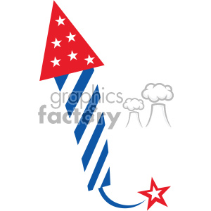 4th of july rocket firework vector icon