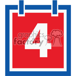 4th of july calendar day vector icon