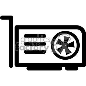 video graphics card icon clipart. Commercial use image # 403825