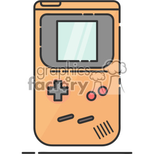 Handheld gameboy vector clip art images clipart. Commercial use image # 403916