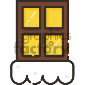 snowy windows vector icon clipart. Commercial use image # 403986