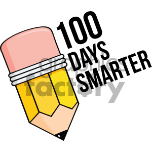 100 days smarter vector art clipart. Royalty-free image # 404024