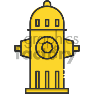 Fire Hydrant vector art clipart. Royalty-free image # 404088