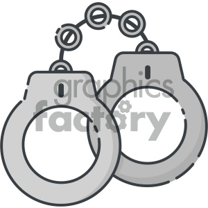 handcuffs vector art clipart. Commercial use image # 404092