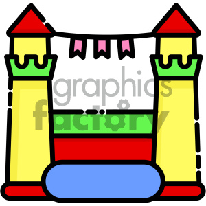 Jumping Castle vector art clipart. Commercial use image # 404099