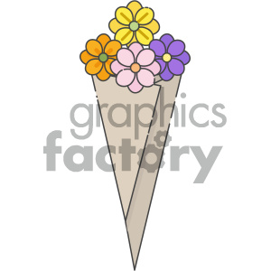 Bouquet vector art clipart. Commercial use icon # 404128