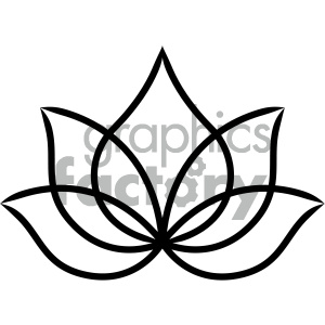 lotus tattoo design clipart. Commercial use image # 404153