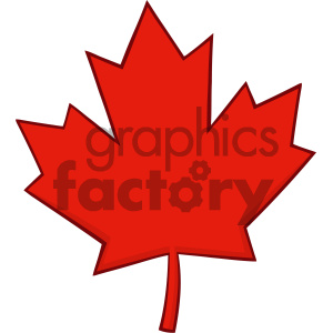 Royalty Free RF Clipart Illustration Canadian Red Maple Leaf Line Cartoon Drawing Vector Illustration Isolated On White Background clipart. Royalty-free image # 404265
