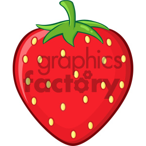 Royalty Free RF Clipart Illustration Strawberry Fruit Cartoon Drawing Simple Design Vector Illustration Isolated On White Background clipart. Commercial use image # 404340