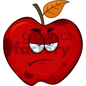 cartoon food mascot character vector happy fun summer red+apple apples