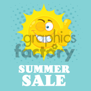 sun sunshine summer mascot character cartoon happy smile cool thumbs+up summer+sale