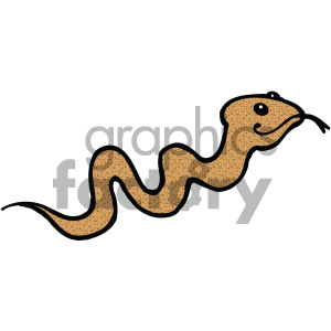 cartoon clipart Noahs animals snake 009 c clipart. Royalty-free image # 404799