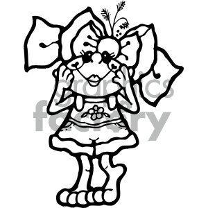 cartoon clipart frog 015 bw clipart. Royalty-free image # 404877