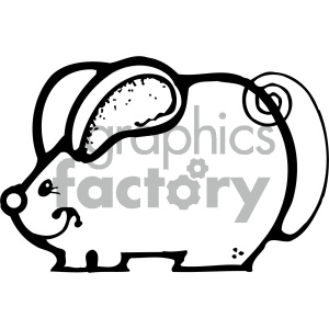 cartoon animals vector PR mouse black+white