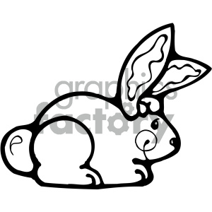 cartoon clipart bunny 004 bw clipart. Royalty-free image # 404929