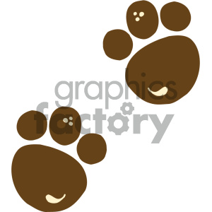 cartoon clipart animal tracks 004 c clipart. Commercial use image # 404973