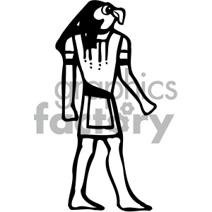 egyptian 003 bw clipart. Royalty-free image # 405039