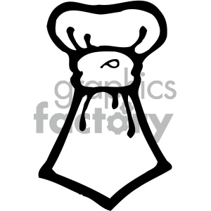 cartoon tie 003 bw clipart. Royalty-free image # 405066