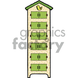 cartoon dresser image clipart. Royalty-free image # 405150