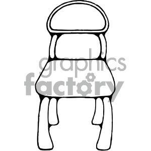 black white school desk chair clipart. Royalty-free image # 405165