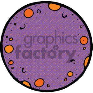 purple cartoon planet vector art clipart. Royalty-free icon # 405210