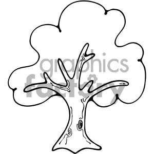 Trees outline. Tree image clipart royalty