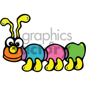 cute cartoon caterpillar vector clipart. Royalty-free image # 405244