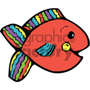 cartoon fish red