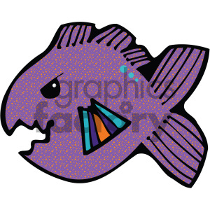 cartoon vector fish 003 c clipart. Commercial use image # 405275
