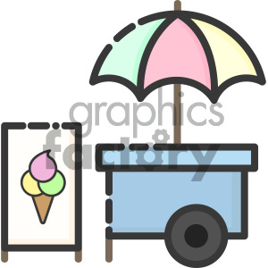 ice cream cart clipart. Royalty-free icon # 405386