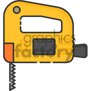 jigsaw tool vector royalty free icon art clipart. Commercial use image # 405388
