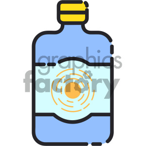sunblock bottle art clipart. Royalty-free image # 405392