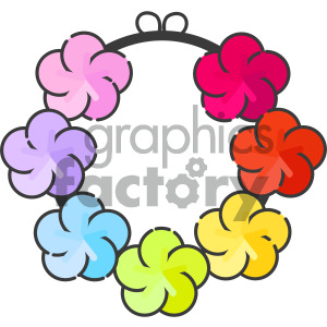 hawaiian lei vector royalty free icon art clipart. Commercial use image # 405404
