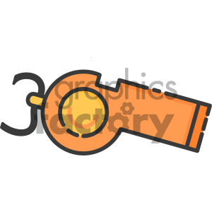 whistle art clipart. Royalty-free icon # 405409