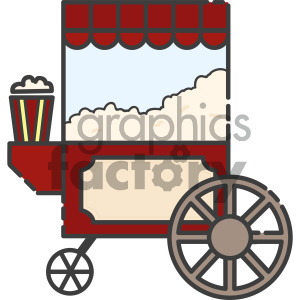 popcorn cart vector royalty free icon art clipart. Commercial use image # 405417