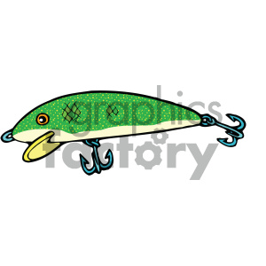 fishing lure 003 vector image