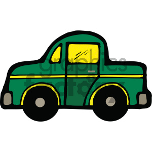 green car cartoon clipart. Commercial use image # 405465