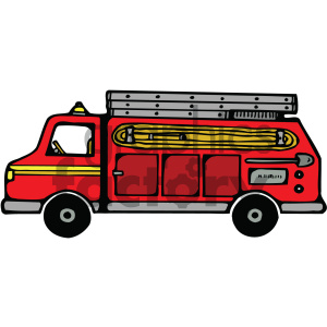 cartoon fire truck clipart. Commercial use image # 405466