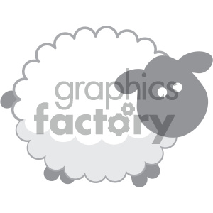 cartoon vector sheep image clipart. Royalty-free image # 132057