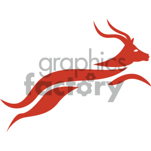 vector gazelle running icon clipart. Commercial use image # 405513