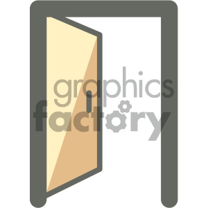 open door furniture icon clipart. Royalty-free image # 405650