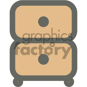 furniture icons household dresser bedroom cabinet