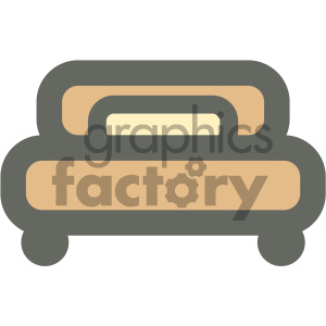 bed furniture icon clipart. Royalty-free image # 405686