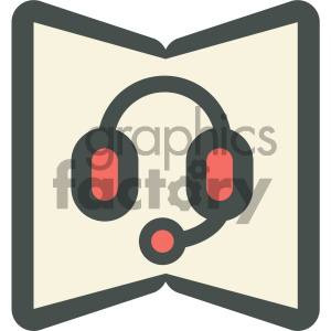 audio book education icon clipart. Royalty-free image # 405702