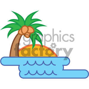 tropical island nature icon clipart. Royalty-free image # 405752