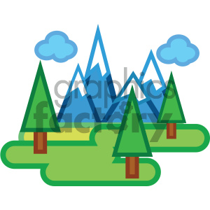 snow covered mountains nature icon clipart. Commercial use image # 405759