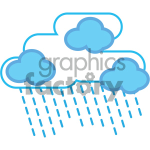 rain cloud nature icon clipart. Royalty-free icon # 405762